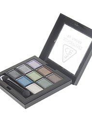 9 Couleur Pearly-lustre Eye Shadow (N ° 3 de couleur)