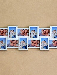 White ABS Photo Wall Frame Collection Set of 12