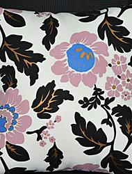 Coussin décoratif Fleurs noires de modèle avec insert