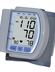 Wrist Blood Pressure Monitor, Grande Digital LCD Screen Display (bianco)