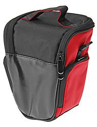 T3-RD Mini One-Sholder Bolsa para Camera (vermelho + preto)