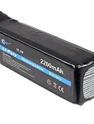 BQY Hot 11.1v 2200mah Li-Po Li-polymère rechargeable