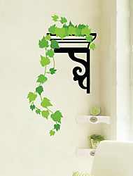 1pcs feuille verte coloré sticker mural pendantes