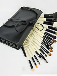 18Pcs Professional Cosmetic Makeup Brush Set with Free Leather Case