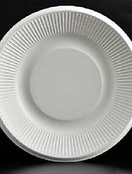 Disposable Plates White 7 inch Plastic Plate 100pcs per Pack, Dia 18cm