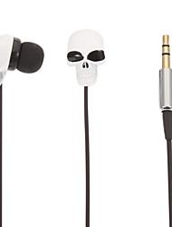 Skull-Shaped Stereo In-Ear Headphone(White)