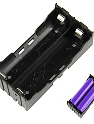 2-Slot Titulaire DIY 18650 de la batterie à broches - Noir