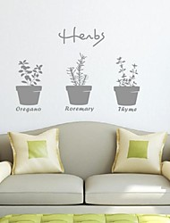 Botanical Potted Bonsai Decorative Wall Stickers