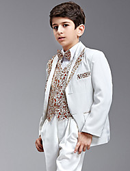 Seven Pieces Swallow-tail Ring Bearer Suit With Two Bow Ties