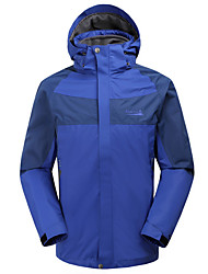 MAKINO Men's Waterproof Windproof Detachable Long-sleeved Jacket for Camping