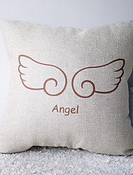 Classic Love with Angel's Wings Decorative Pillow Cover