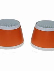 OJADE Mini USB 3W MP3 Music Dual-Speaker for Laptop Notebook - Orange