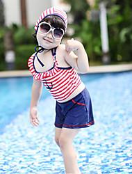 Estilo Navy Swimwear da menina