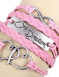 6cm dulces rosadas de las mujeres de cuero de la pulsera del abrigo (rosa) (1 PC)
