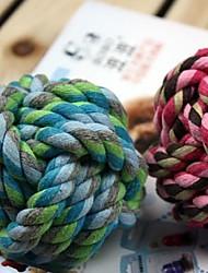 New Cotton Strick Rope Knirschen Ball Spielzeug für Haustiere (die sortierte Größe, zufällige Farbe)