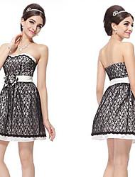 Sexy Black Lace Bustier Mini Robes de