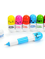Cute Pill Blue Ink Ballpoint Pens(1 Pen)