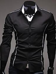 U & F Herren Ständer Neck Black Shirt