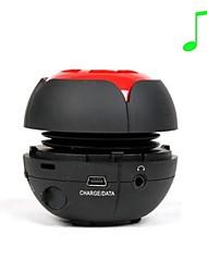 EVA J2 High-Quality Multi-Channel Audio TF/3.5/USB Speaker - Black / Red