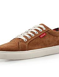 Zapatos Inglés Estilo del cordón de Brown en barco QZBW Hombres