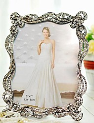 """7"""" Modern European Style Pearl Metal Picture Frame"""