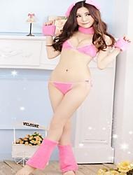 Donne Sexy Lingerie Fur Bikini Set