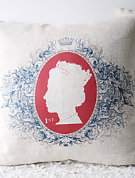 Classic Queen Elizabeth II in House Decorative Pillow Cover