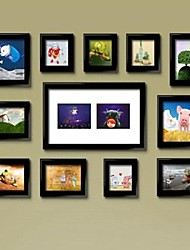 Black Photo Frame Collection Set of 12