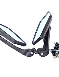 KOSO Motorcycle Remould Parts 360 Adjustable Rhombus Blue Glass Rearview Mirror(Pair)