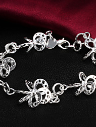 High Quality Original Silver Silver-Plated Irregular Flower Shaped Charm Bracelets
