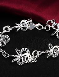 Alta Qualidade Original Prata Prata Irregular Flower Shaped Charm Bracelets