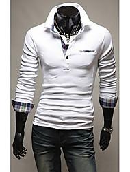 Männer stilvolle Check Pattern Schlank POLO Hemd