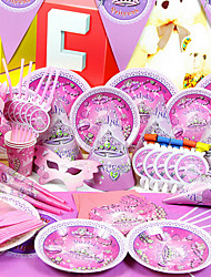 """Fantastique Temps"" Birthday Party Supplies - Lot de 84 pièces"