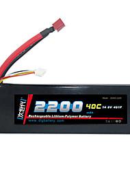 DLG 14.8V 2200mAh batterie Li-Po (T Plug)