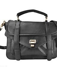 Классический черный и белый цвета PU Женщины сумки кожа Messenger