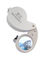 40x25mm с подсветкой Ювелирные изделия Лупа Gem увеличительное стекло LED Лупа