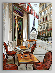 Stretched Canvas Print Art Landscape Abstract The Eiffel Tower in End of The Road