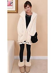 Women's Coat Long Sleeve All Seasons White Medium