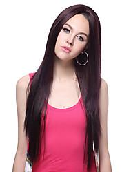 100% Kanekalon Synthetic Straight Long Black Wig