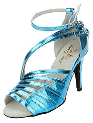 Customized Women's Special Multi-Strap Leatherette Sandals Latin Dance Shoes
