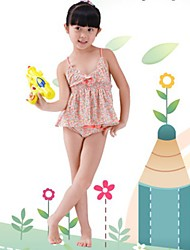 Girl's Design Stripe 3 Pieces Swimwear
