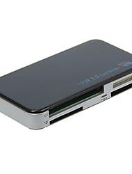 Lector de tarjetas de memoria USB 3.0 todo en 1 (Negro)