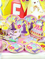 """""""Happy Girl"""" Fiesta de cumpleaños - Juego de 84 Piezas"""