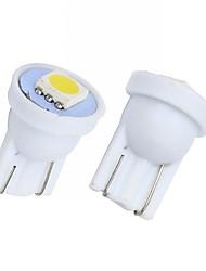 Merdia 2W 90LM T10 1x5050SMD LED lumière blanche de voiture Instrument / lampe de frein Ampoules (2 PCS / 12V)