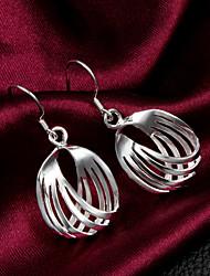 Boucles d'oreilles pendantes femmes alliage de haute qualité gracieuse slivery (1 paire)