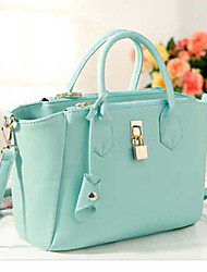 Coco Lock Decorated Handbag(Green)