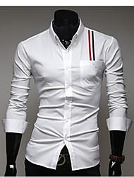 Hommes Décoration ruban unique Casual Shirts