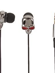 Skull-Shaped Stereo In-Ear Headphone(Red Eyes)
