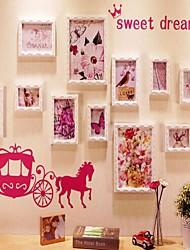 Colección del marco rosado de la foto Conjunto de 11 con Blue Music StyleWall Sticker
