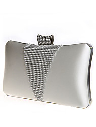 BPRX New Women'S Fashion Rectangle Textured Metal Evening Bag  (White)